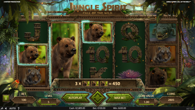 Характеристики слота Jungle Spirit: Call Of The Wild 8